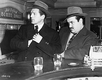 William Conrad - The killers (Charles McGraw, William Conrad) in The Killers, Conrad's film debut