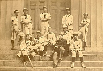 William Edward White - William Edward White, seated second from right with the 1879 Brown University varsity baseball team.