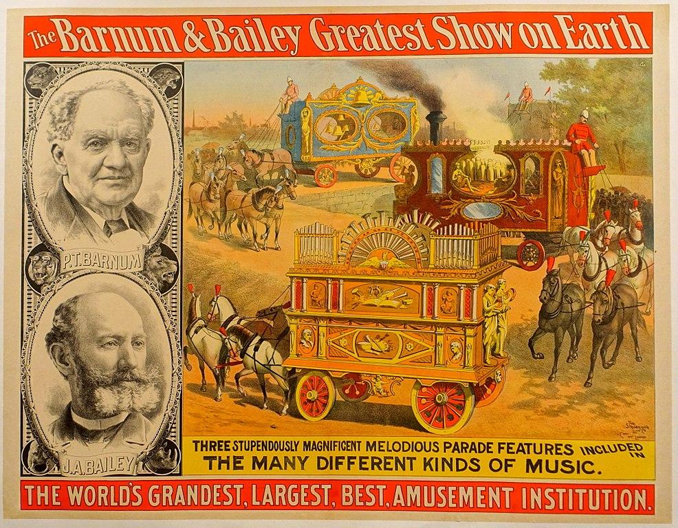 Cartel de un espectáculo del circo Barnum & Bailey. John and Mable Ringling Museum of Art - Sarasota, Florida, USA.