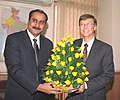 The Chairman Microsoft and Chief Software Architect, Mr. Bill Gates meeting with the Union Minister for Health & Family Welfare, Dr. Anbumani Ramadoss in New Delhi on December 6, 2005.jpg