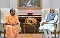 The Chief Minister of Uttar Pradesh, Yogi Adityanath calling on the Prime Minister, Shri Narendra Modi, in New Delhi on April 09, 2017 (1).jpg