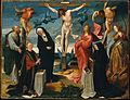 The Crucifixion with Donors and Saints Peter and Margaret MET DT10856.jpg