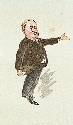 Alfred Newman (politician) - 1896 caricature of Dr Alfred Newman