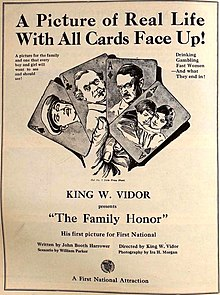 Description de l'image The Family Honor (1920) - Ad.jpg.