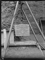 The Foundation Stone about to be laid for the Petone Waterworks on 25 April 1903, with inscription and list of councillors. ATLIB 273190.png