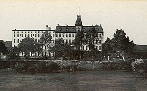 William P. Halliday - View from the Ohio River of the Halliday House Hotel located in Cairo, Illinois.