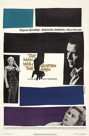 Saul Bass - The Man with the Golden Arm poster designed by Bass
