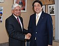 The Minister of State for Industry, Dr. Ashwani Kumar meeting with the former Prime Minister of Japan, Mr. Shinzo Abe, in Tokyo on February 18, 2008.jpg