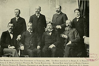 University of Nebraska State Museum - Charles Morrill, second individual on the left front row