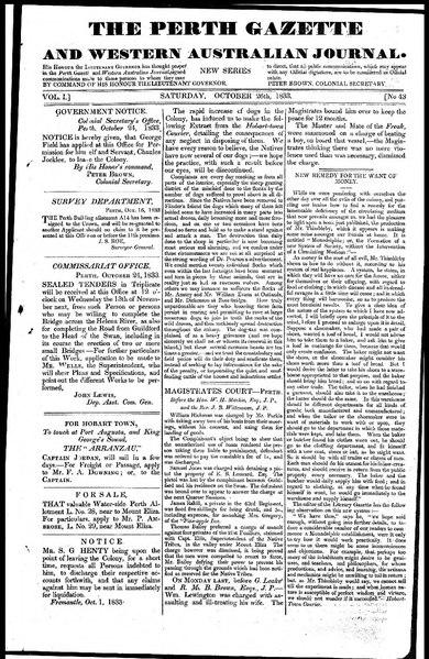 File:The Perth Gazette and Western Australian Journal 1(43).djvu