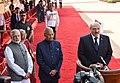The President, Shri Ram Nath Kovind and the Prime Minister, Shri Narendra Modi with the President of the Republic of Belarus, Mr. Alexander Lukashenko, at the Ceremonial Reception, at Rashtrapati Bhavan, in New Delhi (1).jpg