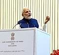 The Prime Minister, Shri Narendra Modi delivering his speech at the valedictory function of the National Law Day celebrations, in New Delhi on November 26, 2017 (1).jpg
