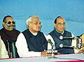The Prime Minister Shri Atal Bihari Vajpayee addressing the Press during his visit to Lucknow on February 23, 2004.jpg