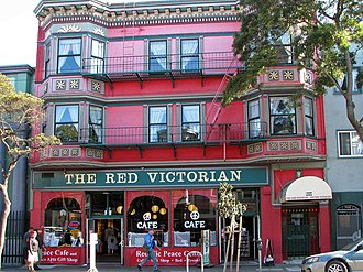 Haight-Ashbury - The Red Victorian, a theme hotel