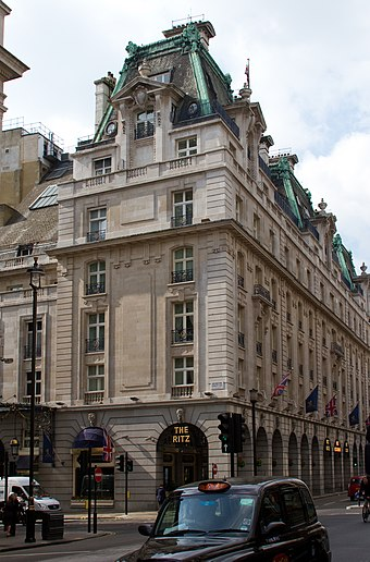 The Ritz hotel opened in Piccadilly in 1906 The Ritz (6902790412).jpg