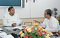 The Union Minister for Shipping, Road Transport & Highways, Shri T.R. Baalu with the Chief Minister of Tripura, Shri Manik Sarkar to discuss the road sector in the State, in New Delhi on July 28, 2006.jpg