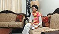 The Union Minister of Housing and Urban Poverty Alleviation & Tourism, Kum. Selja visited and showcase the first room upgraded and furnished by the ITDC for the visitors during Common Wealth Games 2010 in the DDA flats (1).jpg