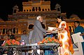 The Vice President, Mohammad Hamid Ansari being presented a memento by the Chief Minister of Rajasthan, Smt. Vasundhara Raje at the closing ceremony of the Rajasthan Day at Jaipur on March 30, 2008.jpg