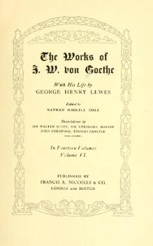 The Works of J. W. von Goethe, Volume 6.djvu