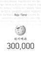 The congratulation image 2 on 300 thousand articles of Korean Wikipedia.png