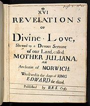 Revelations of Divine Love (title page, 1675 edition)