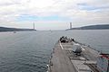 The guided missile destroyer USS Ross (DDG 71) approaches the end of the Bosporus en route to the Black Sea Sept 140903-N-IY142-291.jpg