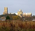 The last rays of late November sunshine on Ely Cathedral - geograph.org.uk - 1601505.jpg