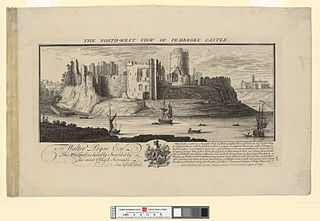 The north west view of Pembroke castle
