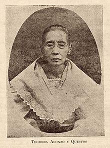 Si Teodora Morales Alonzo Realonda y Quintos, ang ina ni Jose Rizal.