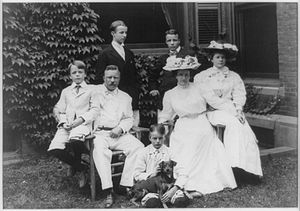 Teddy Roosevelt Terrier - Theodore Roosevelt's family, with terrier.
