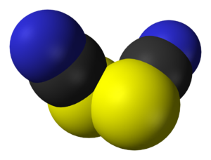 Thiocyanogen - Image: Thiocyanogen 3D vd W