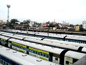 Thiruvananthapuram Central railway station - Trains in Thiruvananthapuram Central Station