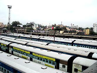Thiruvananthapuram Central railway station - Trains in Thiruvananthapuram Central Station