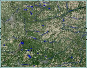 Thornapple River - Enhanced USGS Satellite Image, Thornapple River drainage basin.