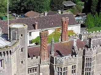 Thornbury Castle - Detail of Castle chimneys