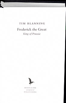 Tim Blanning: Frederick the Great (2015) (Quelle: Wikimedia)