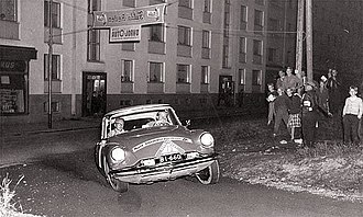 Rally Finland - Citroën DS 19 driven in 1956