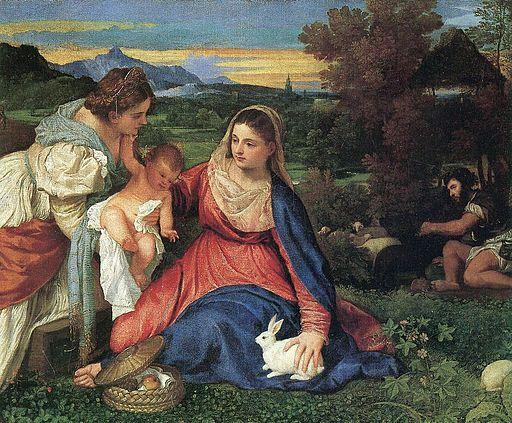 Tizian-Madonna mit dem Kaninchen