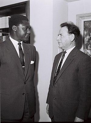 Tom Mboya - Mboya (left) with Israeli Histadrut Secretary General Aharon Becker in Israel in 1962.