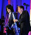 Tommy Thayer and Patrick Lamb performing at a benefit concert in Portland, 2013.jpg