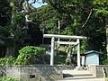 Torii (鳥居) at Oyama Shrine (大山神社) - panoramio.jpg