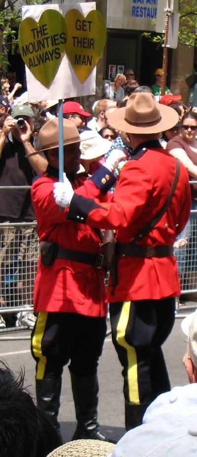 Toronto Gay Pride Mounties 2006