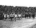 Tour d'honneur urugauyen, après la finale de football des JO de 1924.jpg