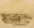 Town Surrounded by a Rice Field and Mountains in the Background. China, 1874-75 WDL2056.png