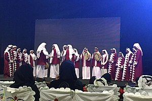 Culture of Qatar - Traditional Qatari male dancers