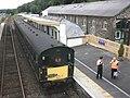Train for Meldon, waits for the off, at Okehampton - geograph.org.uk - 2002172.jpg