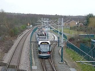Butler's Hill tram stop - Butler's Hill tram stop, with Robin Hood railway line to left