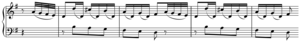 Transition (music) - Image: Transition Haydn's Sonata in G Major