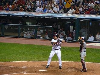 Travis Hafner - Hafner is intentionally walked by the Detroit Tigers on August 25, 2006