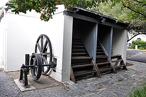 Treadmill - Treadmill used to punish prisoners at Breakwater Prison, Cape Town
